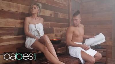 Babes- Big Ass Blonde Pornstar Jessa Rhodes Gets Anal Creampie In The Sauna