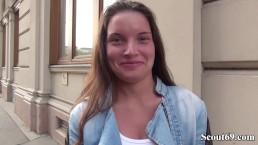 GERMAN SCOUT – SCHLANKER ANITA B OHNE GUMMI IN ARSCH GEFICKT BEI CASTING