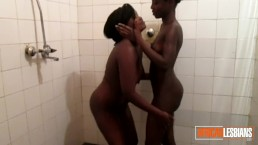 African Dykes Have Hot Shower Session