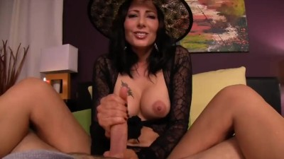 Sexy Witch Gives Tricks AND Treats