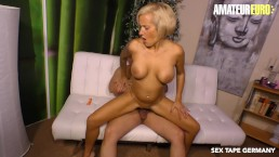AmateurEuro – Super Hot German MILF Fucked Hard On Her First SEX TAPE