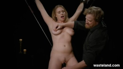 Blonde Submissive Bound And Pleasured To Insanity By Maledom Master