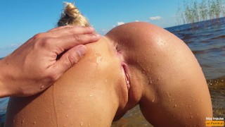 Petite Blonde With Perfect Pussy Fucks On A Public Beach – Miss Impulse