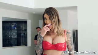 Busty Tattooed Milf Babe Karma RX Gets Disciplined