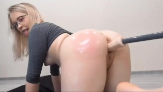 Cute Young Blonde Pink Pussy + Fuck Machine Cam