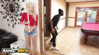 BANGBROS – Petite Teen Elsa Jean VS Home Invader Ricky Johnson