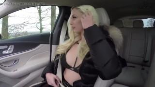 Girl Sucks Cock In Fur Hood