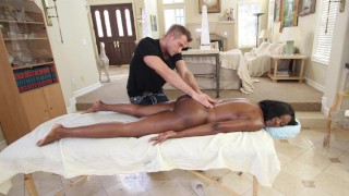 BANGBROS – Black MILF Nyomi Banxxx Orders Massage With A Side Of Cock