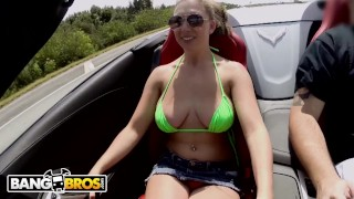 BANGBROS – Busty Babe Brooke Wylde Rollin' Down The Street Smokin' Big Cock